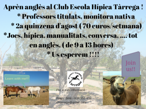 Aprèn anglès al Club Escola Hípica (1)